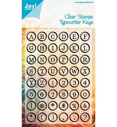 Joy! craft Stempel Tijpewriter Keys Alphabet (6410-0078)