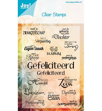 Joy Crafts - Stempel Gefeliciteerd (6410/0021)