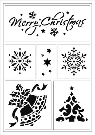 Flexible Stencils - Merry Christmas (4004.010.00)