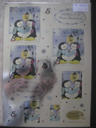 foiled die-cut decoupage - let it snow