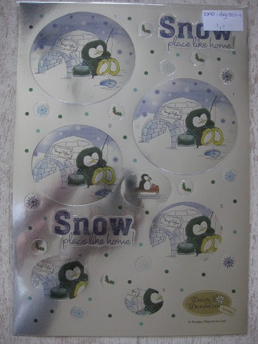 die-cut decoupage - snow place like