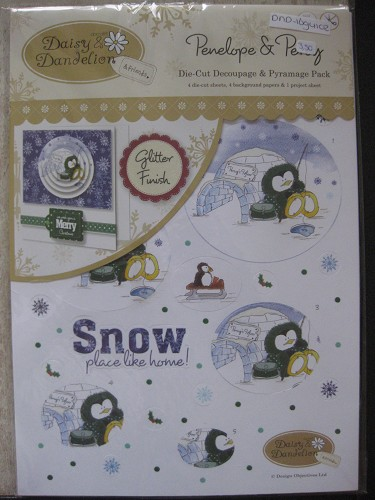 A4 decoupage pack - penelope & percy (snow place like home)