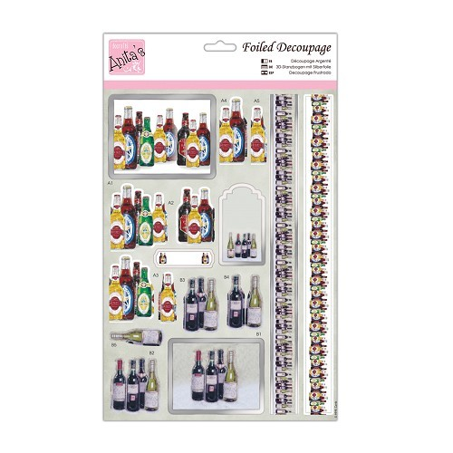 Foiled Decoupage - Have a Drink