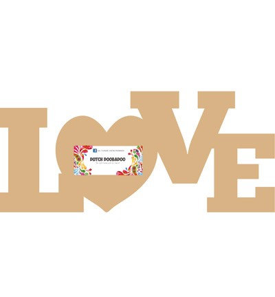 Dutch Doobadoo MDF Word Love (460440120)