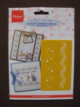 eline`s embroidery cross stitch stencil rand (EL 8504)