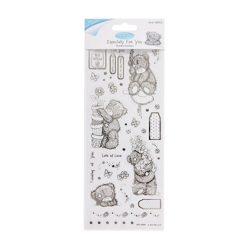 MTY 810103 Outline Stickers - Me To You (Floral Bear) - Clear