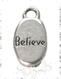 metalen hanger believe