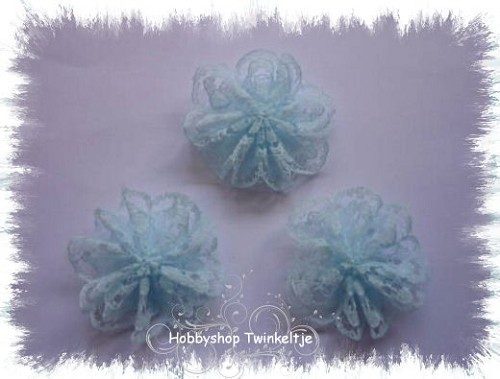 lace flowers blauw