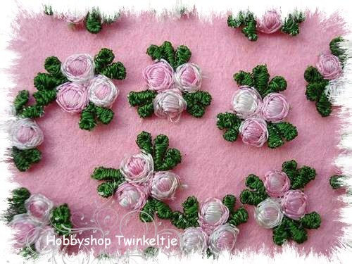 embroidery bloemen - rose