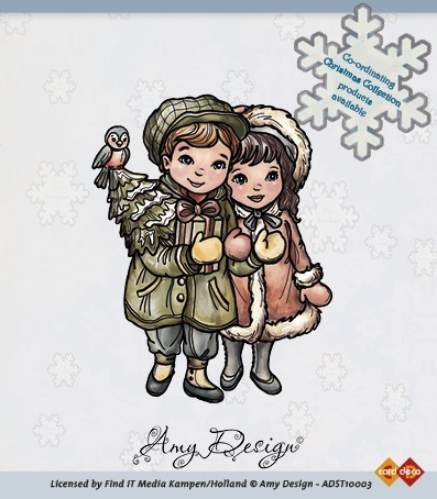 Clear stamp - amy design (ADST10003) christmas couple