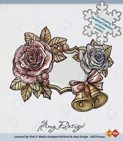 Clear stamp - amy design (ADST10004) roses and bells
