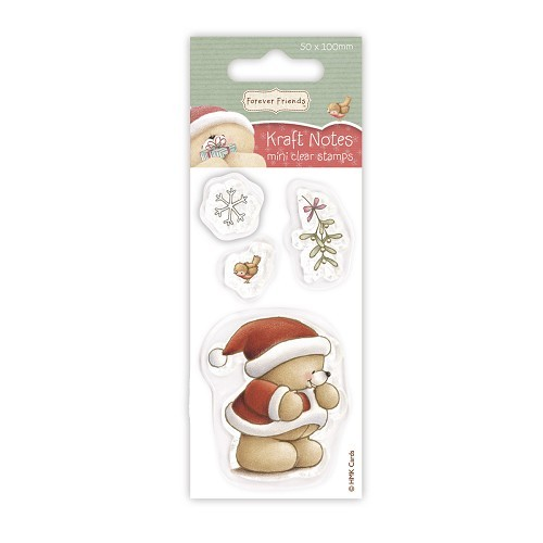 Forever friends Mini Clear Stamp - Christmas Kraft Notes - Mistletoe