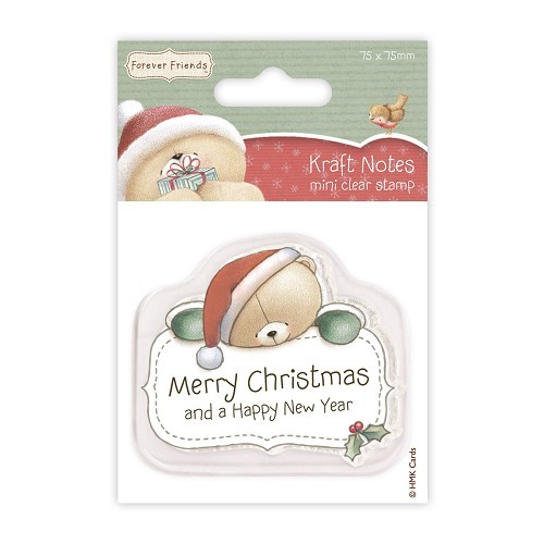 Forever friends Mini Clear Stamp - Christmas Kraft Notes - Merry  christmas
