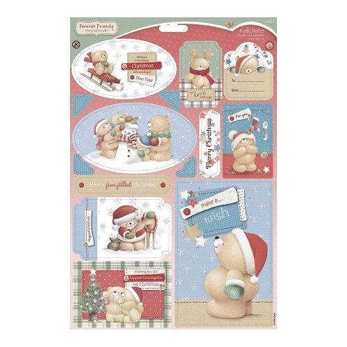 Forever friends A4 Die-cut Toppers - Kraft Notes - Christmas Fun
