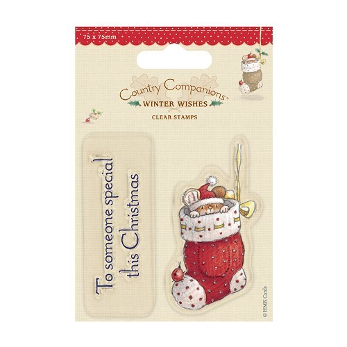 75 x 75mm Mini Clear Stamps - Winter Wishes - Someone Special