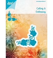 Joy! Craft Cutting & Embossing - Stencil Rozen hoek (6002/0347)