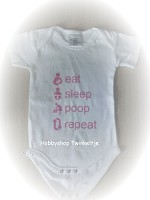 Eat sleep roze tekst - ROMP-03