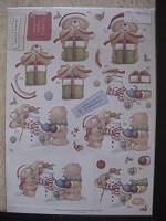 Forever friends A4 Decoupage - Christmas Kraft Notes - Christmas Fun - FFS-169032-1
