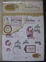 Forever friends A5 Embellished Decoupage Card Kit - Christmas Kraft Notes