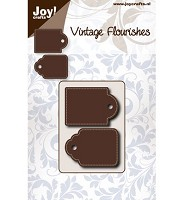 joy Cutting & Embossing Vintage Flourishes dub tag (6003-0062)   - 6003-0062