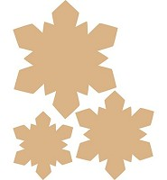 Dutch DooBaDoo MDF Stars set (460440070)