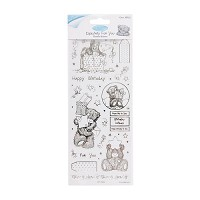 MTY 810102 Outline Stickers - Me To You (Birthday Bear) - Clear - MTY-810102