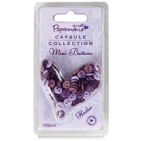mini buttons 100 stuks heather
