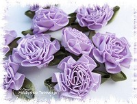 cabbage roses - paarse - CR-200