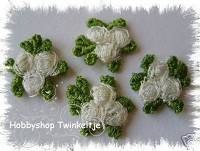 embroidery bloemen - wit