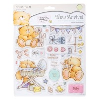 Forever friends clear stamp - black & gold (characters)