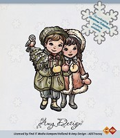 Clear stamp - amy design (ADST10003) christmas couple - ADST-10003