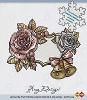 Clear stamp - amy design (ADST10004) roses and bells - ADST-10004