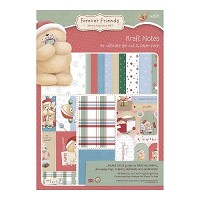 Forever friends A4 Ultimate Die-cut & Paper Pack (48pk) - Christmas Kraft Notes  - FFS-169031