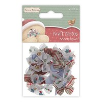Forever friends Ribbon Bows (20pcs) - Christmas Kraft Notes  - FFS-367205