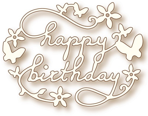 Wild Rose Studio`s Specialty die - Birthday (SD0020)