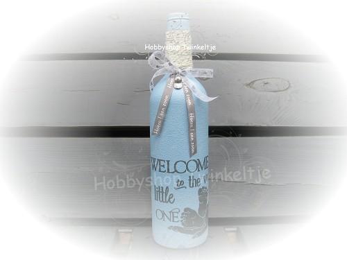 Decoratie fles 03 hobbyshop twinkeltje for Decoratie fles