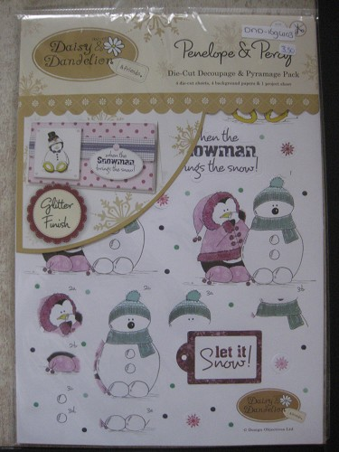 A4 decoupage pack - penelope & percy (Let It Snow)